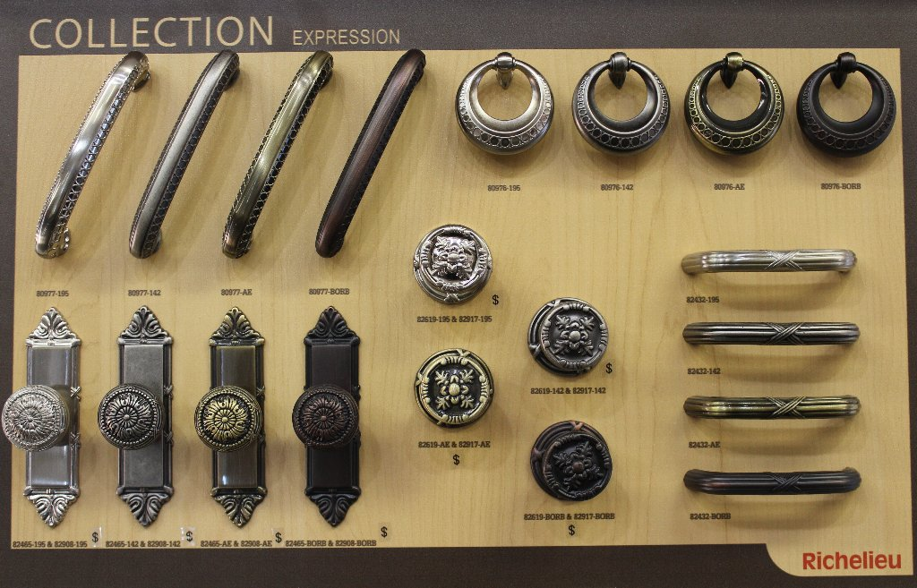 Decorative Hardware GROUP A (some exceptions, speak with sales)